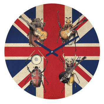 Eric Fan Meet The Beetles Round Clock