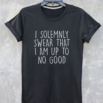 Harry Potter Shirt Quotes tumblr Tee Shirt i solemnly swear that i am up to no good t shirt with sayings Inspired by The Marauders Map