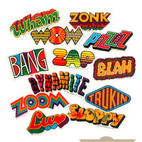 1970s Phrase Patches (Set of 12)