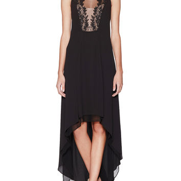 Cassidy High-Low Lace Trim Dress