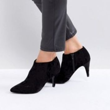New Look Wide Fit Suedette Cone Heeled Ankle Boot at asos.com