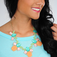 Sweet As Pie Necklace: Multi