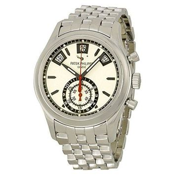Patek Philippe Grand Complications Chronograph Silver Dial Stainless Steel Mens Watch 5960-1A
