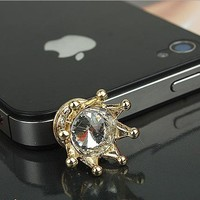 Hot Sale Alloy Rhinestones And Plastic Phone Dust Plug