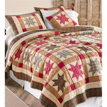 King Heritage Star Quilt Set | Collection Accessories
