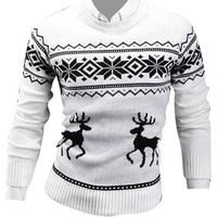 Jeansian Men's Slim Fit Long Sleeves Casual Shirts Pullover Sweater