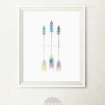 Tribal Arrows Print, Blue Arrows Art print, Minimalist art, Printable art, Arrow Decor, Bedroom decor, Printable Wall Art, Arrows Wall Decor