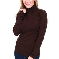 Basic Instinct Brown Turtleneck | Monday Dress Boutique