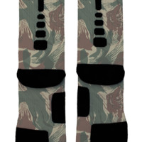 Painted Camo Custom Nike Elites