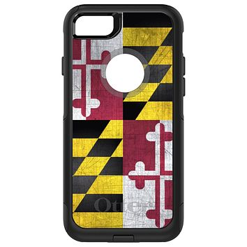 DistinctInk™ OtterBox Commuter Series Case for Apple iPhone or Samsung Galaxy - Old Weather Maryland Flag