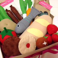 Pretend Play Felt Food Bumper Hamper Gift