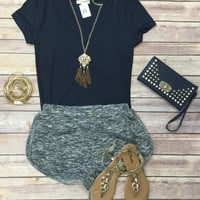 Lazy Day Terry Shorts: Navy