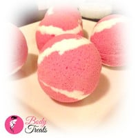 Pomegranate Mango Bath Bomb Fizzy - Body Treats Handmade Bath and Body Bath Soak
