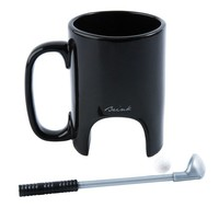 Black Ceramic Golf Mug With Golf Club Stirrer and Small Ball - Whimsical & Unique Gift Ideas for the Coolest Gift Givers