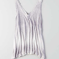 AEO Soft & Sexy V-Neck Jegging Tank, Light Gray
