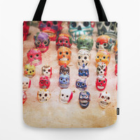 Sugar Skulls Tote Bag by Jenndalyn