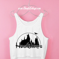 Hogwarts Catsle Harry Potter Crop Tank Top