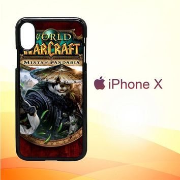 World of Warcraft Guardian Druid Mists of Pandaria Z0652 iPhone X Case