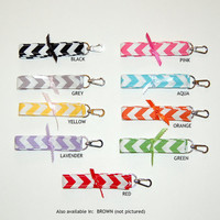 CHEVRON LANYARDS Available In Black, Grey, Yellow, Lavender, Pink, Aqua, Orange, Green, Red, Brown)