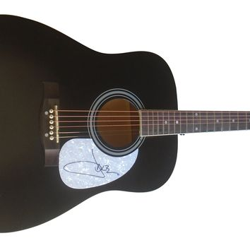 Jake Owen Autographed Full Size Acoustic Country Music Guitar, Proof Photo