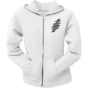 Grateful Dead - Black & White Calaveras White Juniors Zip Hoodie