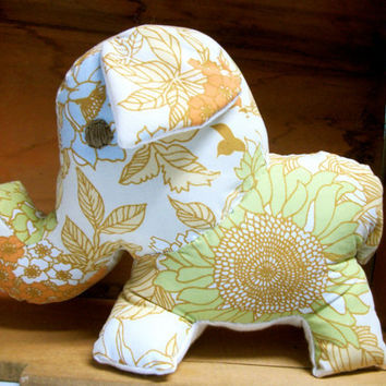 Elephant Stuffed Animal Zulu by RopeSwingStudio on Etsy