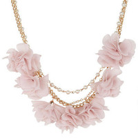 Rose & Pearl Multi Strand Neck