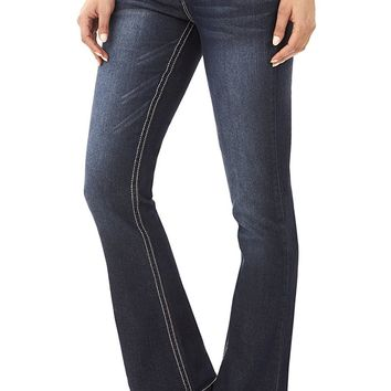 Juniors Basic Stretch Bootcut Denim Jeans
