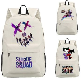 Kid's Suicide Squad Mochila students Backpack Shoulder Harley Quinn travel School Bag for teenagers Casual canvas Laptop bagpack