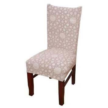 Spandex Slipcover Home Kitchen Dining Elastic Chair Cover Seat Protector Fashion Flowers Printing Removable Stretch Chair Covers