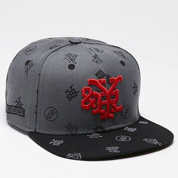 Young & Reckless Monogram Reckless Snapback Hat - Mens Backpack - Black - One