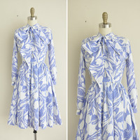 tulip print dress by Jonathan Logan / vintage 1960s 60s dress