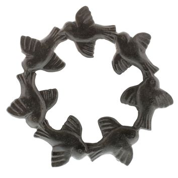 Bird Cast Iron Trivets - Set of Two