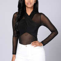 Over You Bodysuit - Black