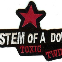 System Of A Down Iron-On Patch Toxic Twins Star Logo