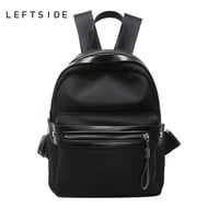 Womens Nylon Small Backpack Black
