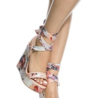 Blush Faux Leather Multi Print Wrap Around Wedges @ Cicihot Wedges Shoes Store:Wedge Shoes,Wedge Boots,Wedge Heels,Wedge Sandals,Dress Shoes,Summer Shoes,Spring Shoes,Prom Shoes,Women's Wedge Shoes,Wedge Platforms Shoes,floral wedges
