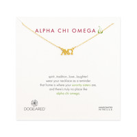 Alpha Chi Omega Necklace, Gold Dipped | Dogeared