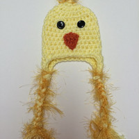 Fuzzy Blue Bird/ Chickadee 0-3 Month Crochet Hat-- Perfect Spring Newborn Photo Prop--Halloween--So Sweet-- Available in all sizes