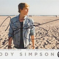 Cody Simpson Signed 8X10 Photo