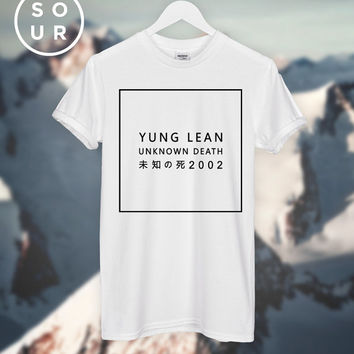 Yung Lean unknown death 2002 T-SHIRT unisex top *Get a Free Tee!
