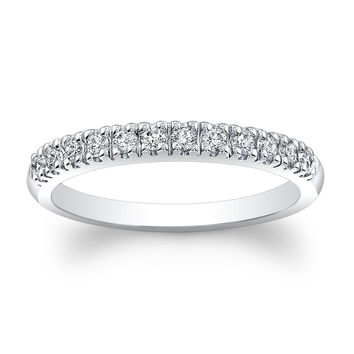 Ladies Platinum thin diamond wedding band 0.30 ctw G-VS2 diamond quality