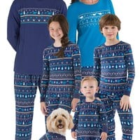 Peace on Earth Fair Isle Matching Family Pajamas | View All | Matching Family Sets | Pajamagram