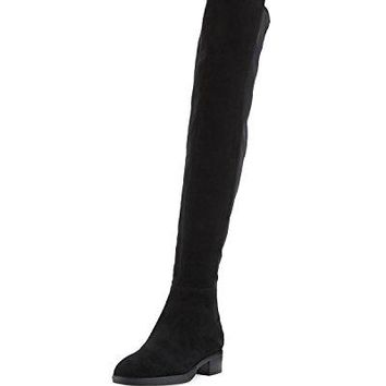 Tory Burch Caitlin Stretch Suede Over-The-Knee Boot, Black