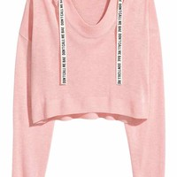 Fine-knit hooded jumper - Light pink - Ladies | H&M CA