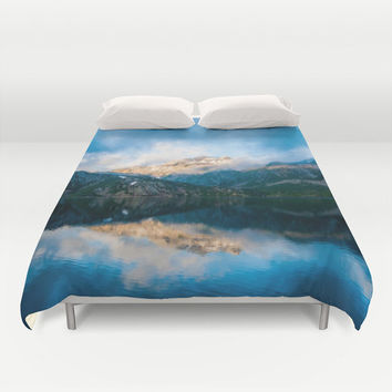 Duvet Cover, Mountain, Nature Bedding Cover, Decorative Photography Bedroom Decor, Modern Home Decor, King, Queen, Full