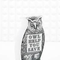 Owl Money Bank - Urban Outfitters