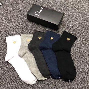 Dior Fashion 5 Pairs Per Set Sock Style #208