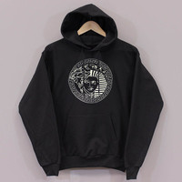 versace piramida Funny design long sleeved hooded Unisex adult