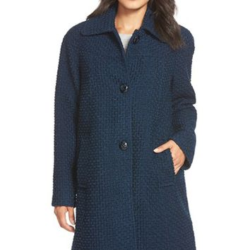 Women's Gallery Long Basket Weave Coat,